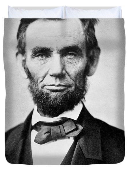 Abraham Lincoln -  Portrait Duvet Cover by International  Images
