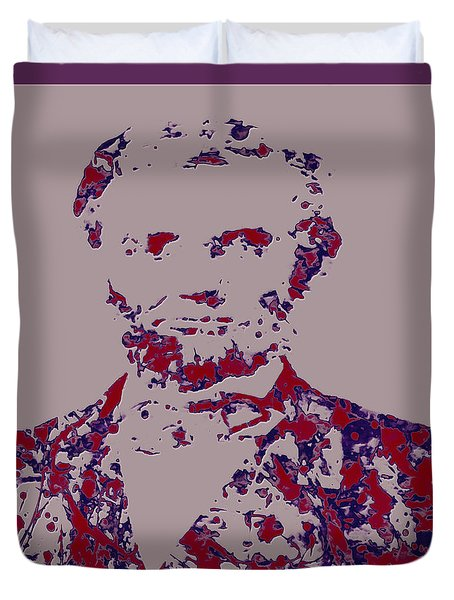 Abraham Lincoln 4c Duvet Cover by Brian Reaves