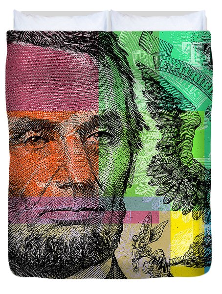 Abraham Lincoln - $5 Bill Duvet Cover