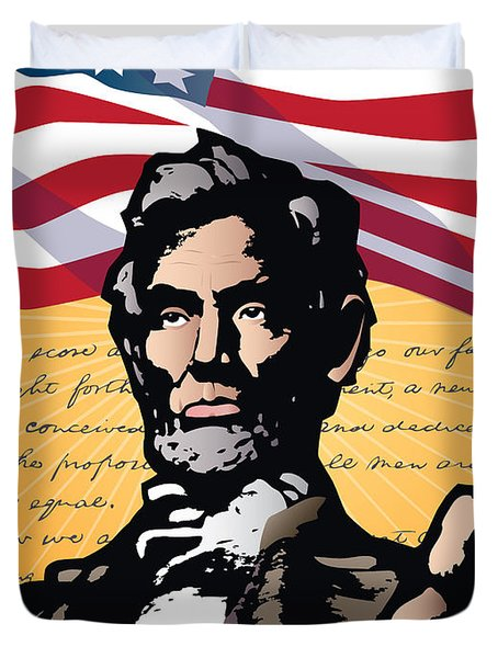 Abraham Lincoln, Gettysburg Address Duvet Cover