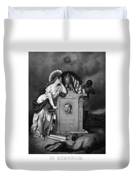 Abraham Lincoln In Memoriam  Duvet Cover by War Is Hell Store