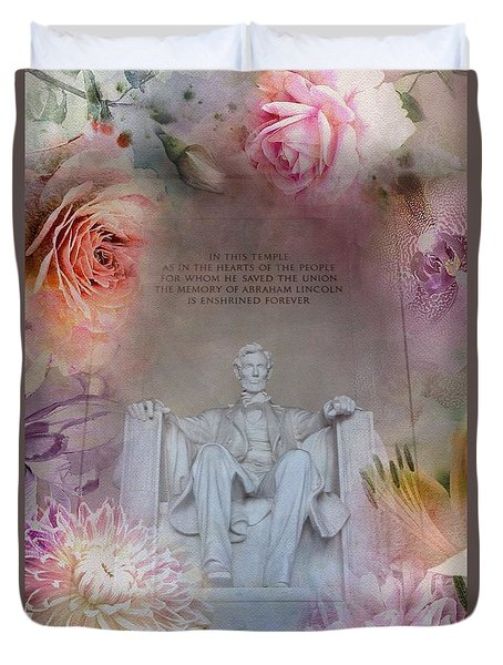 Abraham Lincoln Memorial At Spring Duvet Cover