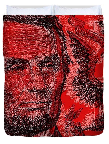 Abraham Lincoln Pop Art Duvet Cover