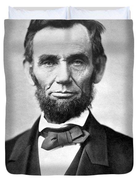 Abraham Lincoln Portrait - 1863 Duvet Cover