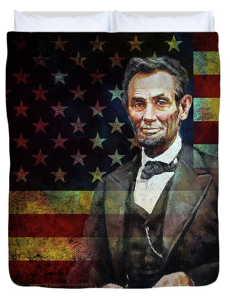 Abraham Lincoln The President  Duvet Cover by Gull G