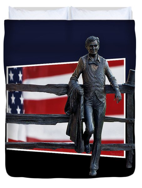 Abraham Lincoln Duvet Cover by Thomas Woolworth
