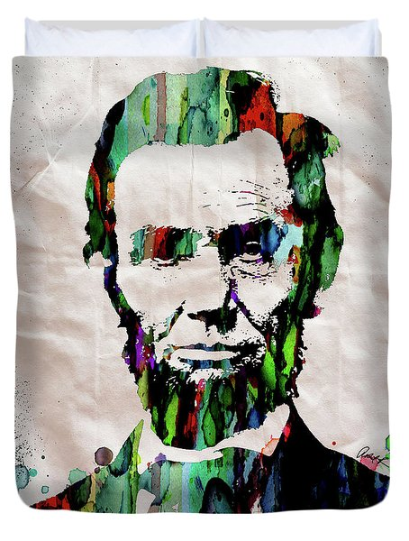 Abraham Lincoln Watercolor Print Painting Duvet Cover