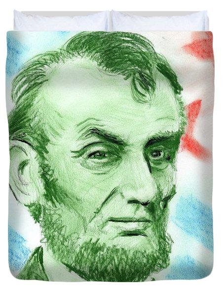 Abraham Lincoln  Duvet Cover by Yoshiko Mishina