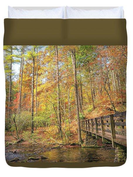 Abrams Falls Trailhead Duvet Cover