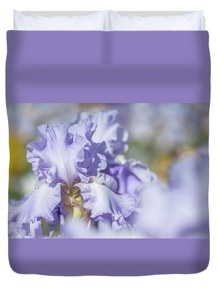 Absolute Treasure 1. The Beauty Of Irises Duvet Cover