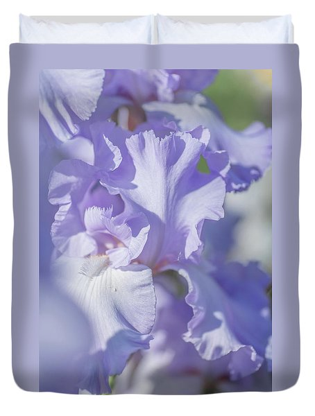 Absolute Treasure Closeup 2. The Beauty Of Irises Duvet Cover