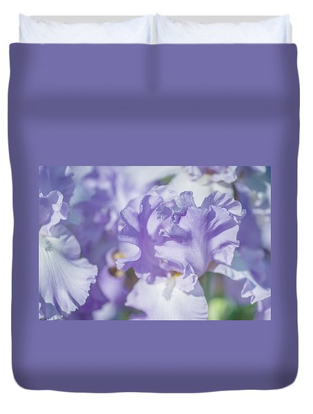 Absolute Treasure Closeup. The Beauty Of Irises Duvet Cover