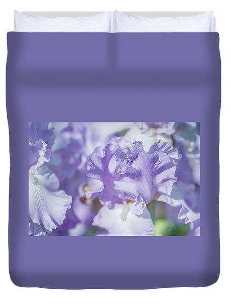 Absolute Treasure Closeup. The Beauty Of Irises Duvet Cover