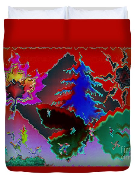 Duvet Cover featuring the photograph Absract by Donna Brown
