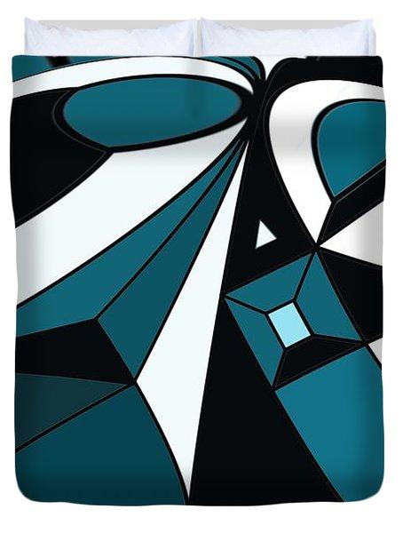 Abstrac7-30-09-a Duvet Cover by David Lane