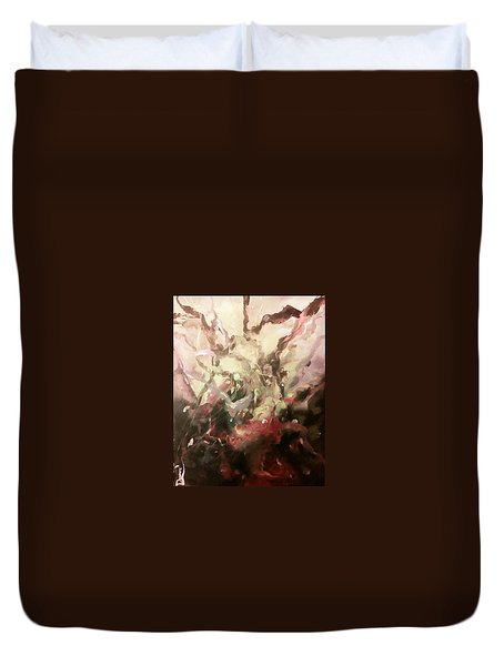 Duvet Cover featuring the painting Abstract #01 by Raymond Doward