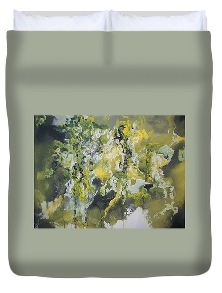 Duvet Cover featuring the painting Abstract #010 by Raymond Doward