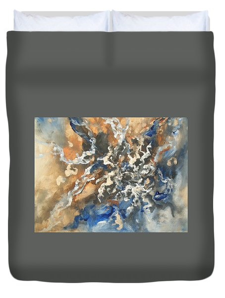 Duvet Cover featuring the painting Abstract #011 by Raymond Doward