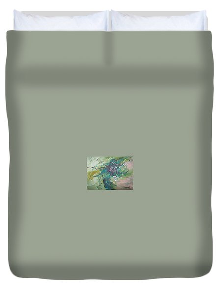Duvet Cover featuring the painting Abstract #012 by Raymond Doward