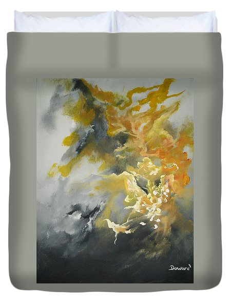 Duvet Cover featuring the painting Abstract #013 by Raymond Doward