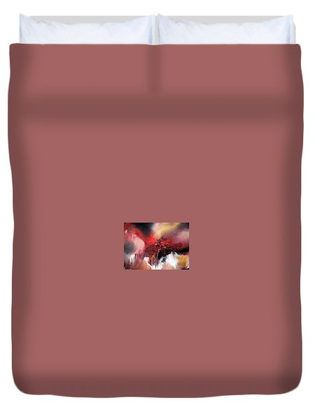 Duvet Cover featuring the painting Abstract #02 by Raymond Doward