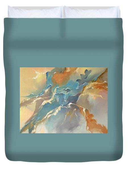 Duvet Cover featuring the painting Abstract #04 by Raymond Doward