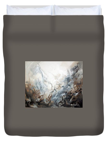 Duvet Cover featuring the painting Abstract #05 by Raymond Doward
