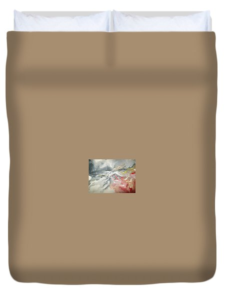 Duvet Cover featuring the painting Abstract #06 by Raymond Doward