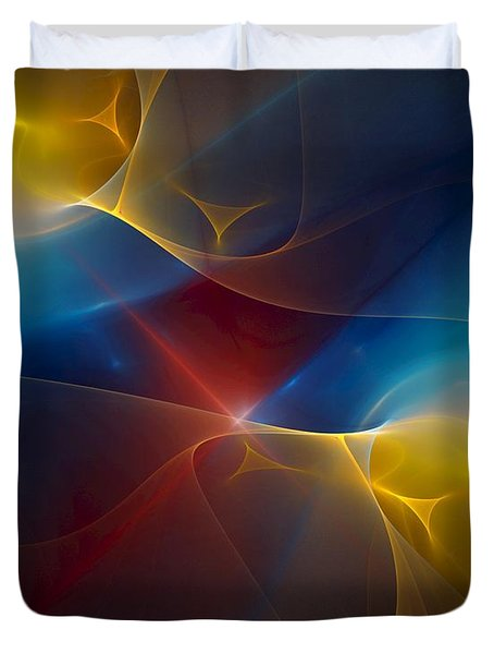 Abstract 060410 Duvet Cover by David Lane