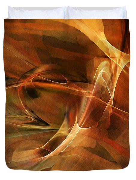 Abstract 060812a Duvet Cover by David Lane