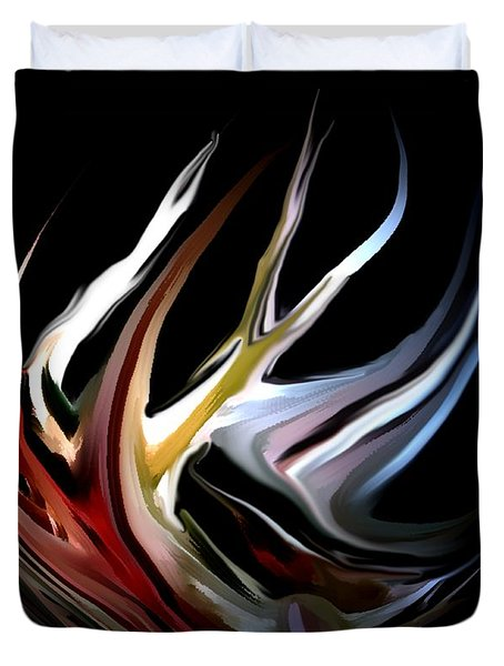 Abstract 07-26-09-c Duvet Cover by David Lane