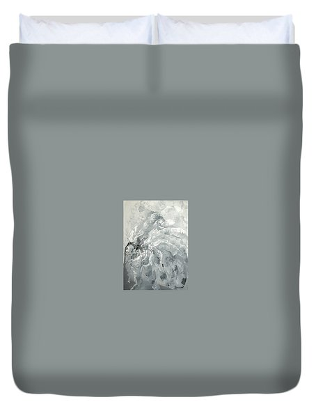 Duvet Cover featuring the painting Abstract #09 by Raymond Doward