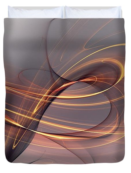 Abstract 090411 Duvet Cover by David Lane