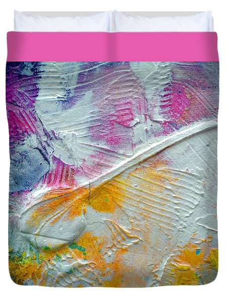 Duvet Cover featuring the painting Abstract 1 by Tracy Bonin