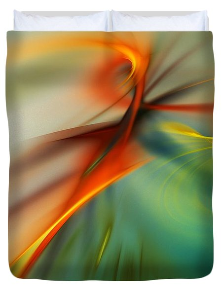 Abstract 110910b Duvet Cover by David Lane