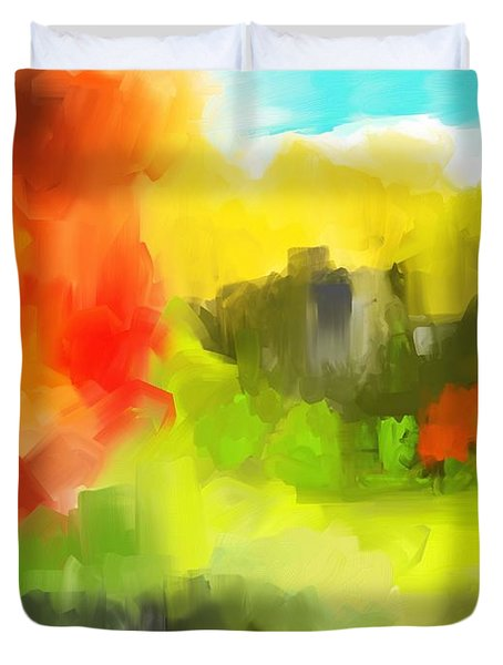 Abstract 112210 Duvet Cover by David Lane