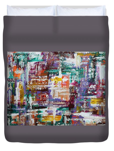 Abstract 193 Duvet Cover by Patrick J Murphy