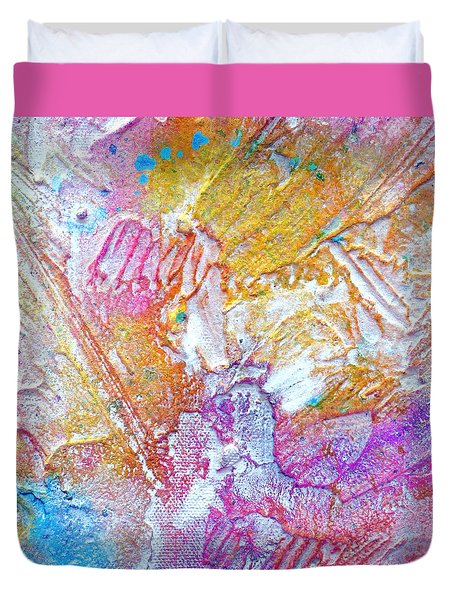 Duvet Cover featuring the painting Abstract 2 by Tracy Bonin