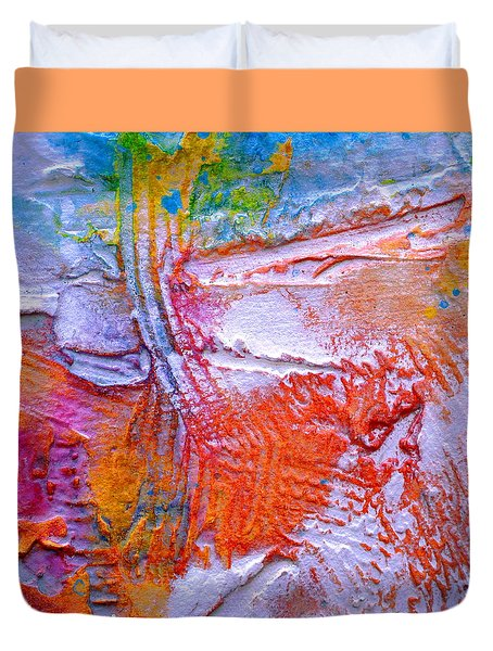 Duvet Cover featuring the painting Abstract 3 by Tracy Bonin