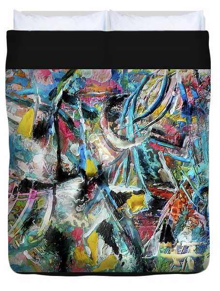 Abstract 301 - Encaustic Duvet Cover
