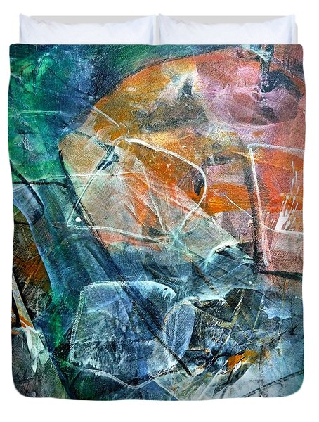 Abstract #326 - Happy Hour Duvet Cover