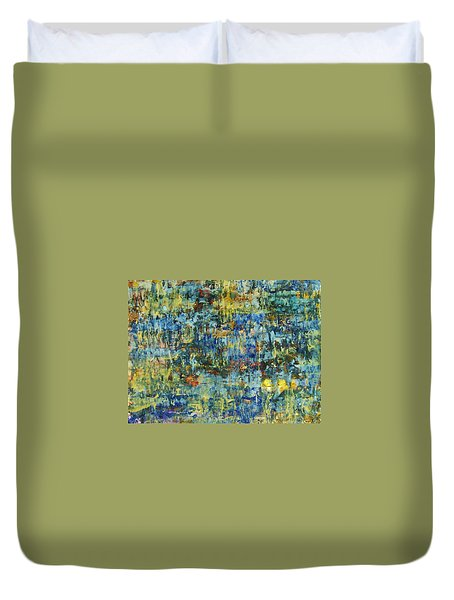 Duvet Cover featuring the painting Abstract #329 by Robert Anderson