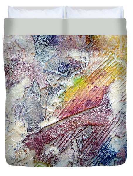 Duvet Cover featuring the painting Abstract 4 by Tracy Bonin