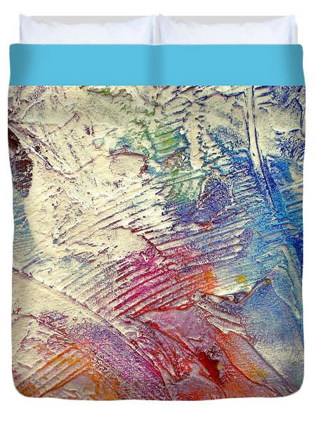 Duvet Cover featuring the painting Abstract 5 by Tracy Bonin