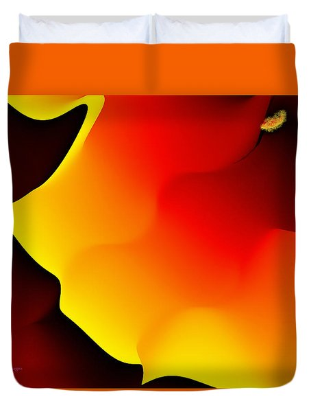 Duvet Cover featuring the digital art Abstract 515 8 by Kae Cheatham