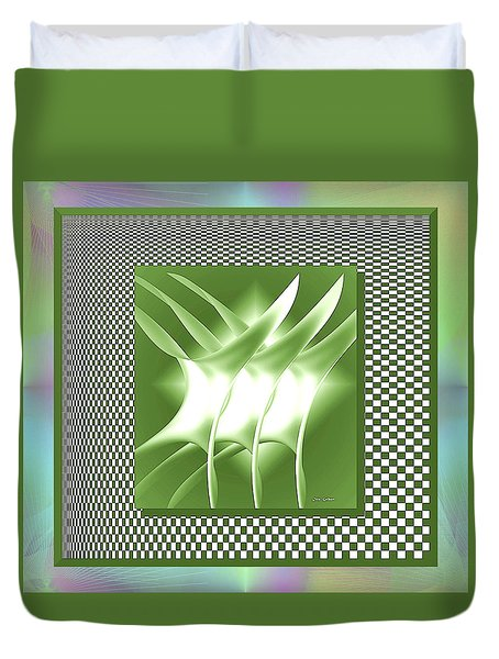 Abstract 54 Duvet Cover by Iris Gelbart
