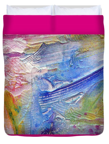 Duvet Cover featuring the painting Abstract 6 by Tracy Bonin
