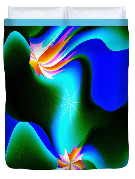 Duvet Cover featuring the digital art Abstract 615 1 by Kae Cheatham