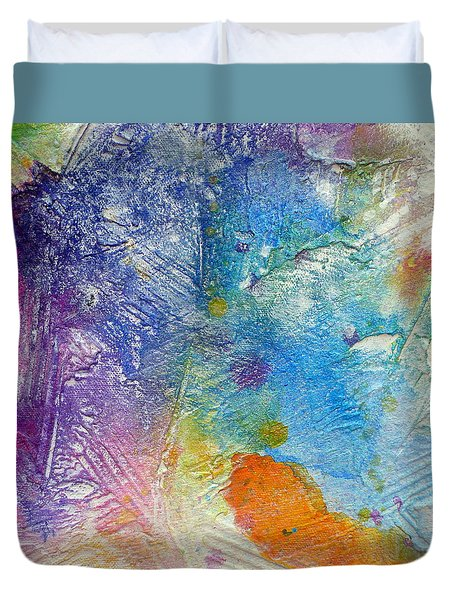 Duvet Cover featuring the painting Abstract 7 by Tracy Bonin