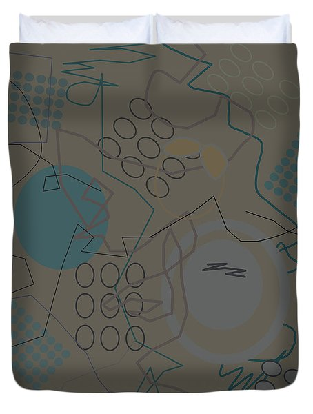 Abstract 8 Brown Duvet Cover